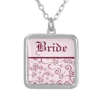 Pink Swirls Bride Necklace