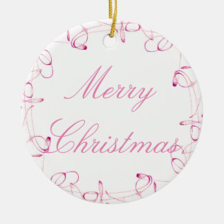 Pink Swirls Ornament