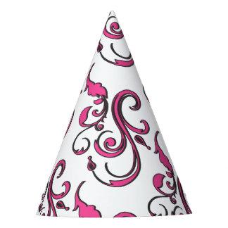 Pink Swirls Paper Party Hat