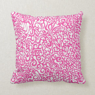 Pink Swirls Throw Pillow
