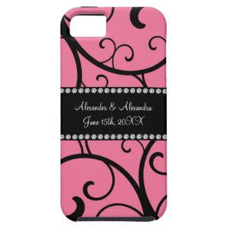 pink swirls wedding favors iPhone 5 cases