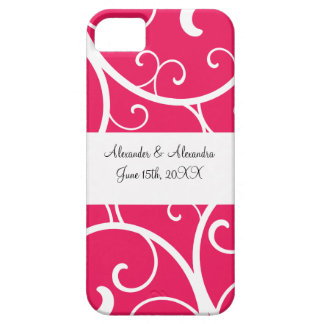 Pink swirls wedding favors iPhone 5 cover