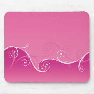 Pink Swirly Mousepad