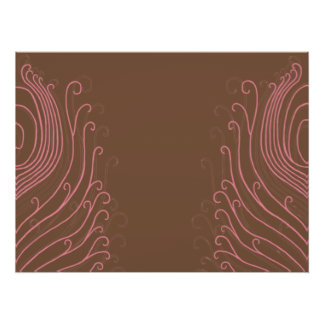 Pink Swirly Peacock Feathers Poster