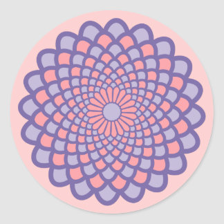 Pink Symmetry Round Sticker