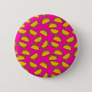 pink tacos 6 cm round badge