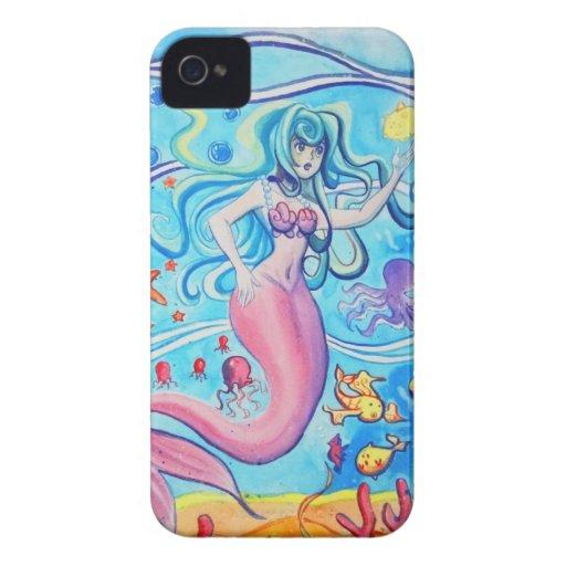 Pink Tailfin Mermaid Blackberry Case Case-Mate iPhone 4 Case