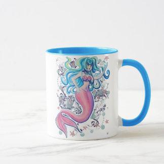 Pink Tailfin Mermaid Mug