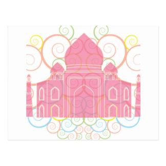 Pink Taj Mahal Postcard