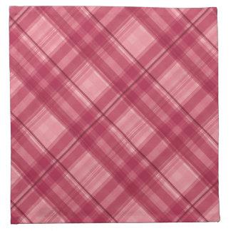 Pink tartan cocktail napkings napkin