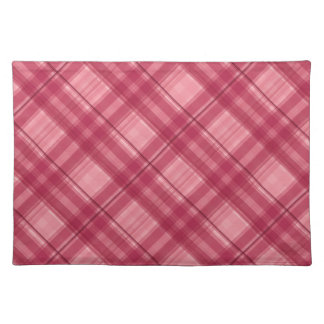Pink tartan cute pick-nick place mat
