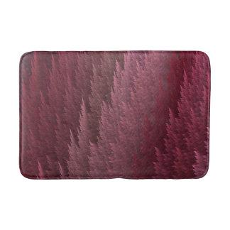 Pink Tartan Feather Bath Mat