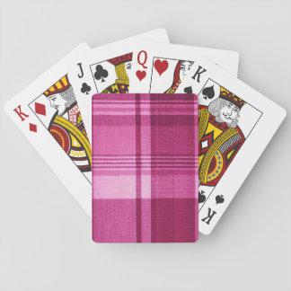 Pink Tartan Playing Cards