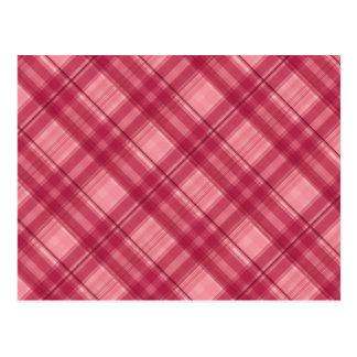 Pink tartan postcard