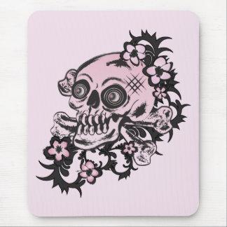 Pink Tattoo Skull Mousepads