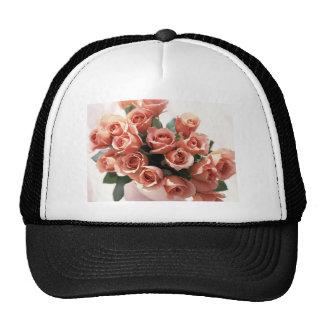 Pink Tea Cup Roses Mesh Hat