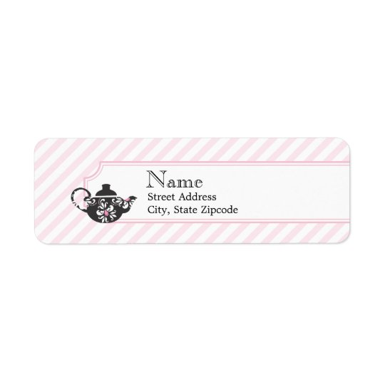 Pink Tea Return Address Label