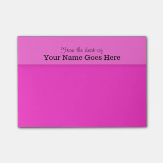 Pink teachers name desk note organizer