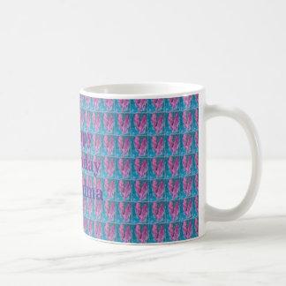 Pink & Teal Hearts White 11 oz Classic White Mug