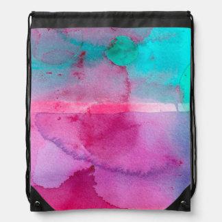 Pink Teal Purple Ombre Watercolor Backpacks
