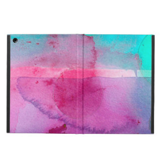 Pink Teal Purple Ombre Watercolor iPad Air Cover