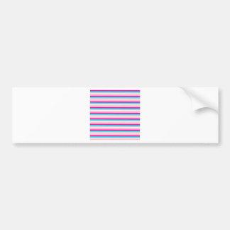 Pink Teal White Stripes Bumper Sticker