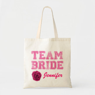 Pink Team Bride Tote Bag