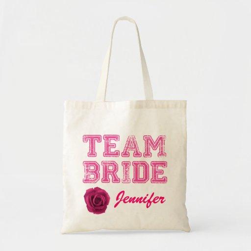 Pink Team Bride Tote Bag