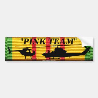 """Pink Team"" on VSM Ribbon Bumper Sticker Car Bumper Sticker"