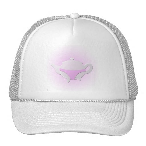 Pink teapot and lingerie hats
