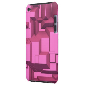 Pink Techno Chunky Cubes Barely There iPod Cases