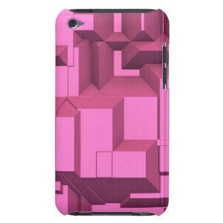 Pink Techno Chunky Cubes Barely There iPod Covers