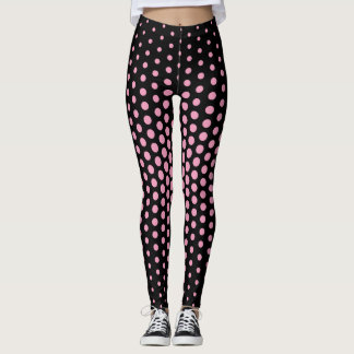 Pink Techno Dot Pattern Leggings