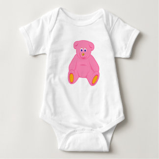 Pink Teddy Baby Bodysuit