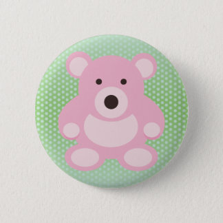 Pink Teddy Bear 6 Cm Round Badge