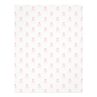 Pink Teddy Bear and Polka Dot Scrapbooking Paper 21.5 Cm X 28 Cm Flyer