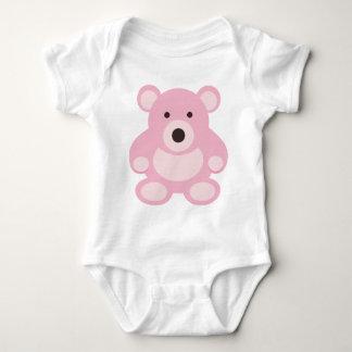 Pink Teddy Bear Baby Bodysuit
