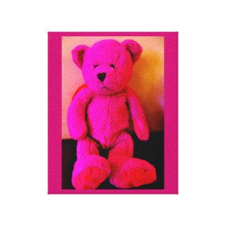 Pink Teddy Bear Canvas Print
