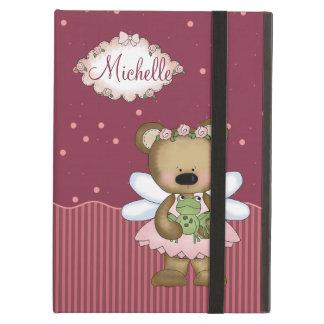 Pink Teddy Bear Fairy Princess iPad Air Cover