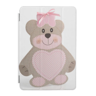 Pink teddy bear iPad Mini Cover