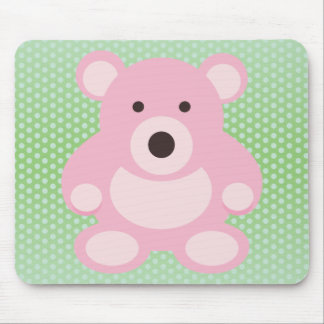 Pink Teddy Bear Mouse Pad