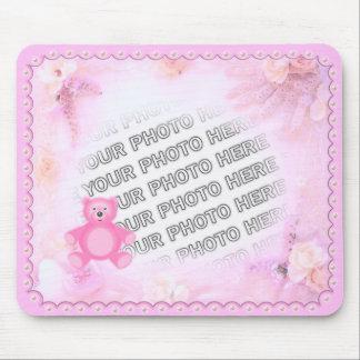 Pink Teddy Bear Photo Mousepad
