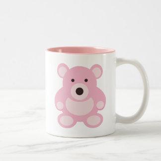 Pink Teddy Bear Two-Tone Mug