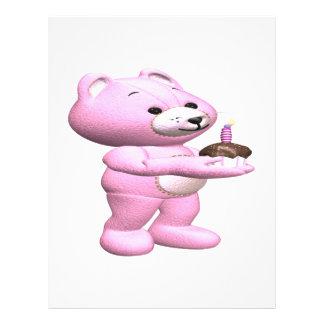 Pink Teddy Cupcake Custom Flyer