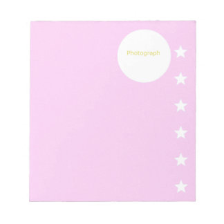 Pink Template with Stars Notepad