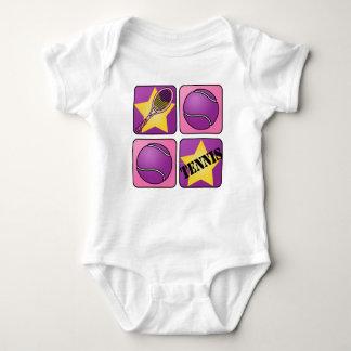Pink Tennis Baby Bodysuit