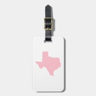 Pink Texas Luggage Tag