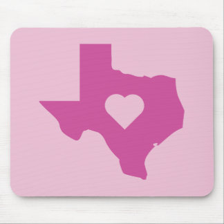 Pink Texas Mouse Pad