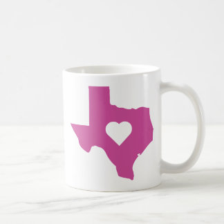 Pink Texas Classic White Coffee Mug