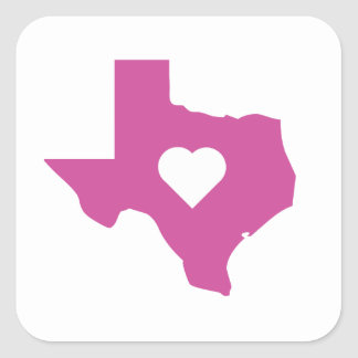 Pink Texas Square Sticker